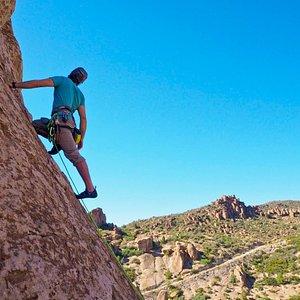 Rock Climbing in central Arizona