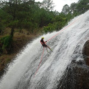 Da Lat Canyoning with Highland Sport Travel on 25m waterfall
