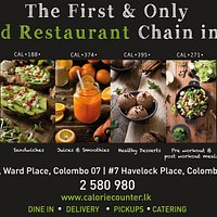 The First and only Health Food Restaurant Chain in Sri Lanka. Ward Place Colombo 7 and Havelock Place Colombo 5