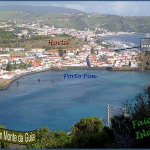 Views towards Horta are wonderful