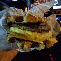 New Waffle breakfast sandwich