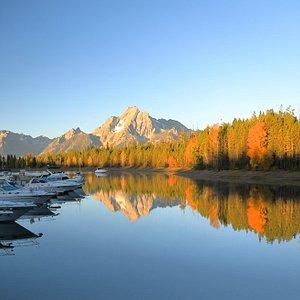 Colter Bay Marina at the start of the Lakeshore Trail -- Colter Bay, Grand Teton National Park.