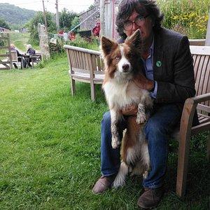 We met the loveliest dog at St. Winnow Barton