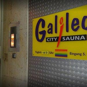 Eingang Galileo City Sauna Mannheim