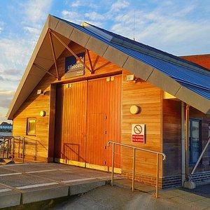 Mudeford Quay Lifeboat Station at Sunset
