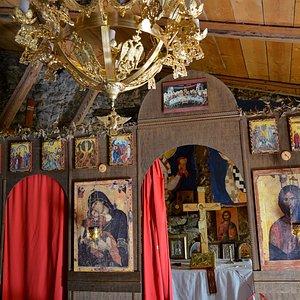 """Chiesetta ortodossa """"Panaghìa tis Elladas"""" (Madonna dei Greci) - Gallicianò di Condofuri (RC). Interno"""