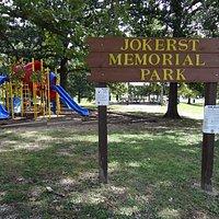 Jokerst Memorial Park Sign
