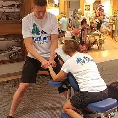 Chair massage session