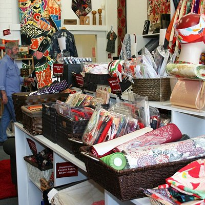 We specialise in vintage Japanese kimono fabrics including cottons, wools and silks. KimoYES craft  and quilt kits, remnant fabrics, antique katazome and shima cottons, off-cuts and speciality silks also available.