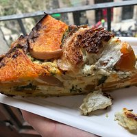 pumpkin and goat cheese quiche from The Pan's Club