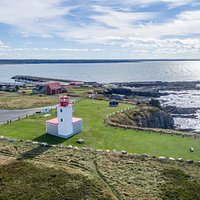 Aerial view of Cape Saint Mary Lighthouse Park