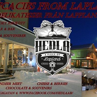 Delikatesser från Lappland. Delicacies from Lapland