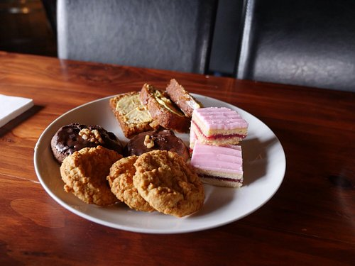 Tasty desserts and fine teas and coffee.