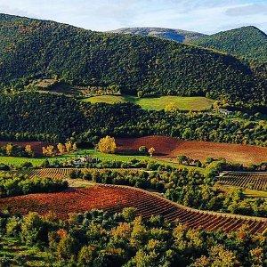 Chiesa del Carmine valley in autumn