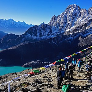 View from Gokyo Ri in the Everest Region, 5360 M.