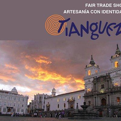 En la plaza de San Francisco en Quito, esta ubicado TIANGUEZ!