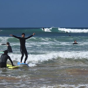 First wave for a Coastline Adventures surf student!