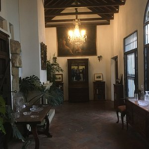Old Spanish building and furniture