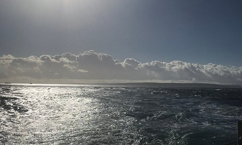 View from the back of the ferry November Sunday