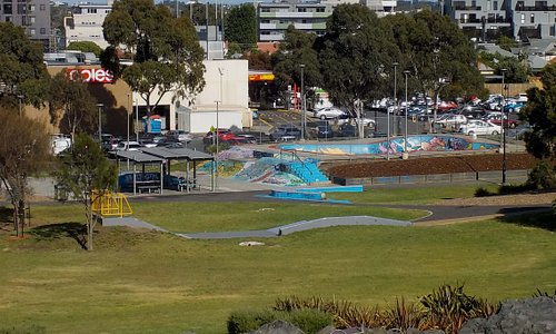 Skate park from hill
