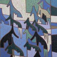 Painting called Cedar Fractal by Philip Mix, courtesy Gallery Gevik website.