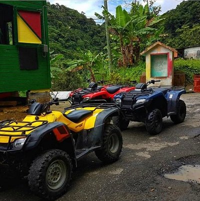 Toraille waterfall Atv park brings you to see the spectacular views of the rainforest,waterfalls and st.lucia tallest mountain,Mount gimmie.