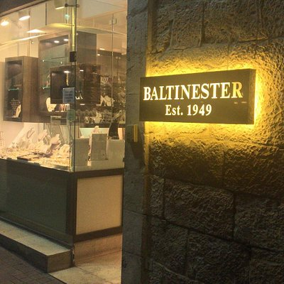 Baltinester Jewelry shop by night..