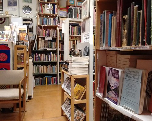 This tiny library holds over 15,000 unusual books on esoteric and controversial subjects, plus thousands of magazines, audio tapes, DVDs, and video tapes.