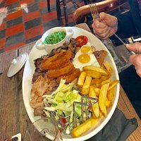 Tanat (absolutely huge) Mixed Grill - Man vs. Food portion - quality was outstanding