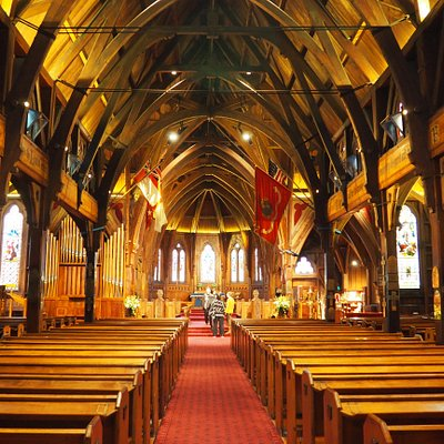 Gothic Revival nave of Old St. Paul's Cathedral, Wellington, NZ
