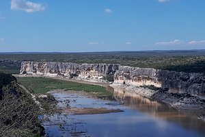 North view of the Pecos River from the sightseeing place