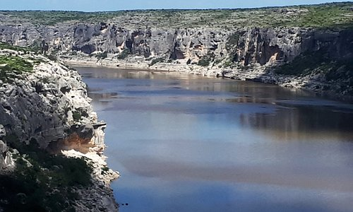 North view of the Pecos River from the bridge