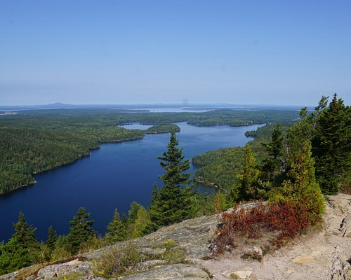 Sweeping views over Long Pond on the long way up