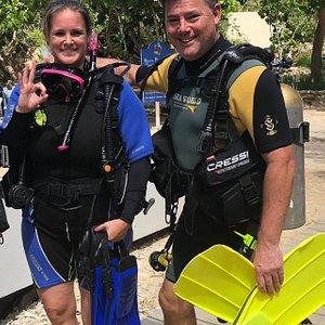 De eerste duik met Simone