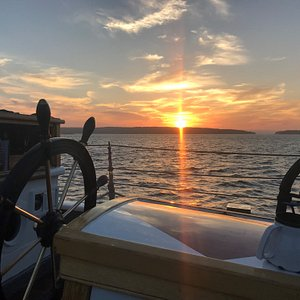Sunset aboard the Lewis R. French