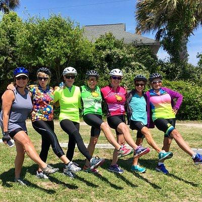 Having fun on our South Carolina Bike & Boat Tour