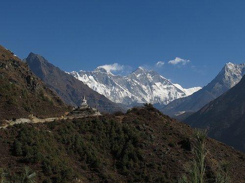 Everest views from Namche bazar