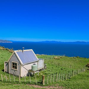 The shepherds cabin overlooking the South Island,New Zealand.