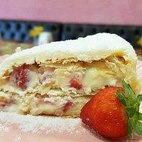 Torta Folhada com Morangos da Doçura!!