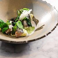 Makreel: Curry - ziltige groenten - daikon mierikswortel