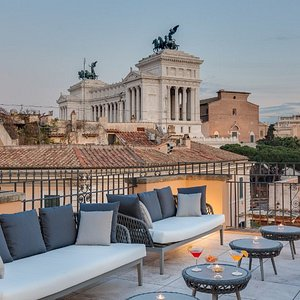 Rooftop with view on the Campidoglio Square.