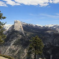 Amazing view from Washburn Point. You can see several waterfalls and large parts of the trail to Half Dome.