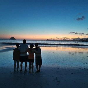 Enjoying the sunset in Selong Belanak Beach
