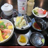 天ぷらセットを食べました