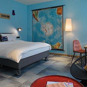 Zimmer im 25hours Hotel Frankfurt The Trip