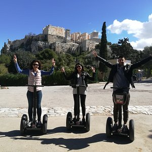 A unique and unforgetable Segway tour in front of the Acropolis Hill!!