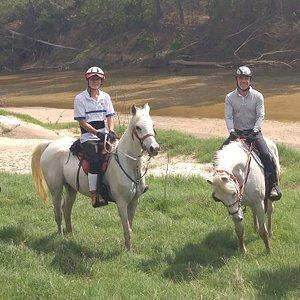 Riders on Spring Creek