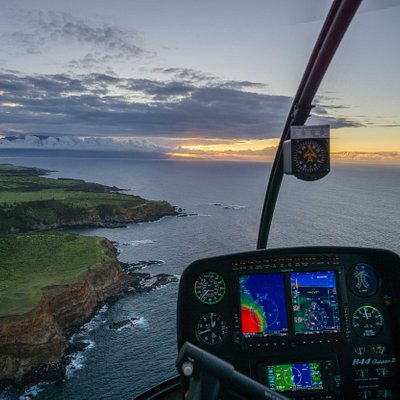 Sunset Flight back from Hana