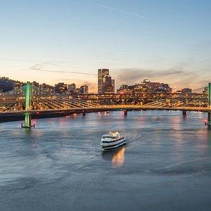 Portland at sunset