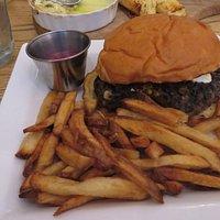 Black bean and corn burger